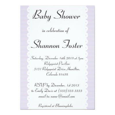 Violet Pinstripes Invitations