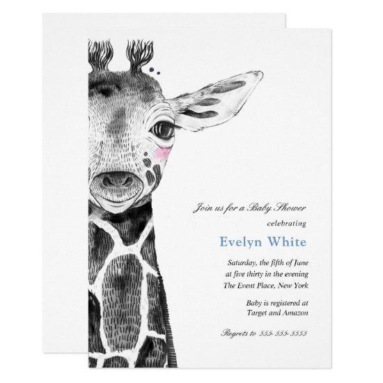 Watercolor Giraffe | Baby Shower invitation