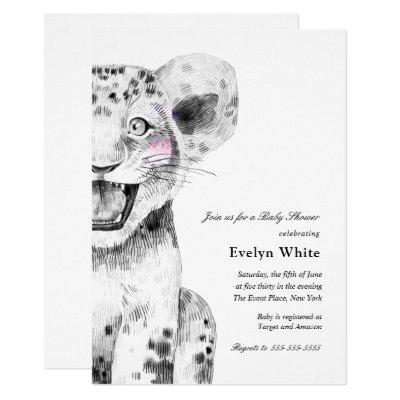 Watercolor Little Lion | Baby Shower invitation