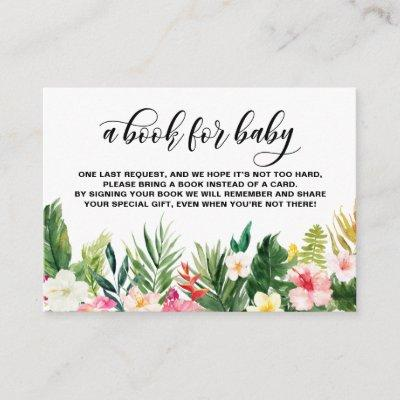 Watercolor Tropical Flowers Book Request Card