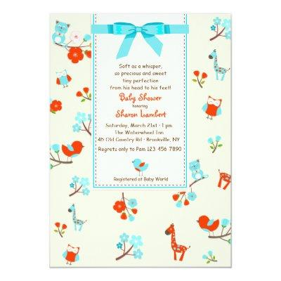 Welcome Baby Shower Invitation