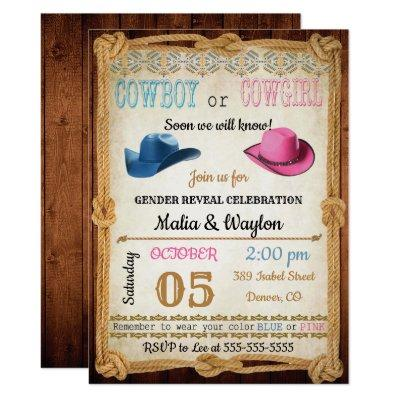 Western Style Baby Reveal Shower Invite