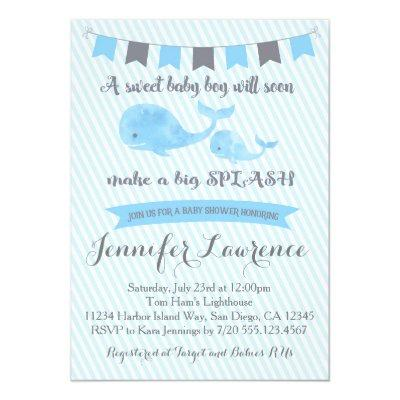 Whale Invitations