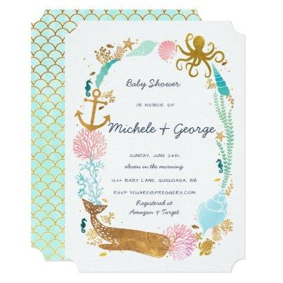 Seahorse Baby Shower Baby Shower Invitations Baby Shower Invitations