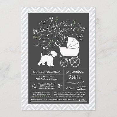 Wheaten Terrier Baby Shower Gender Neutral Invitation