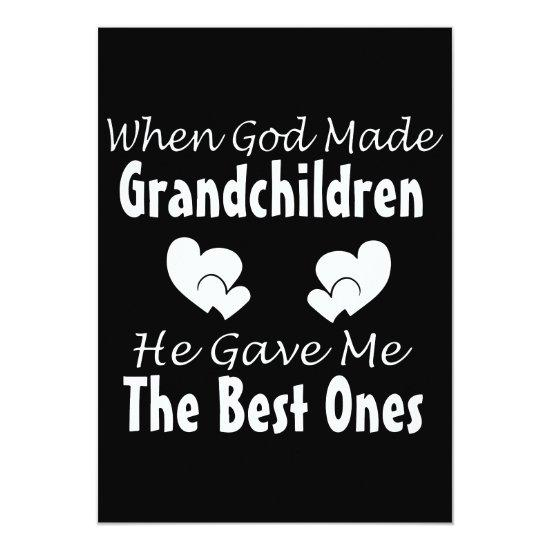 When God Made Grandchildren Grandma T Shirts Card Baby Shower