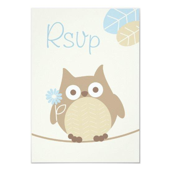 Whimsical boy owl baby shower rsvp card baby shower invitations whimsical boy owl baby shower rsvp card filmwisefo