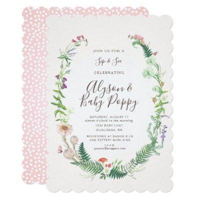 Wild Flower Sip & See Invitations