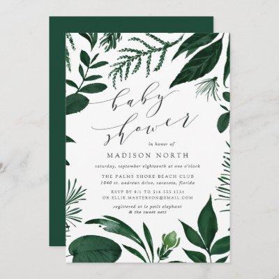 Wild Forest | Botanical Baby Shower Invitation
