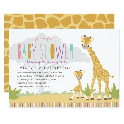 Wild Giraffe Invite - Pink