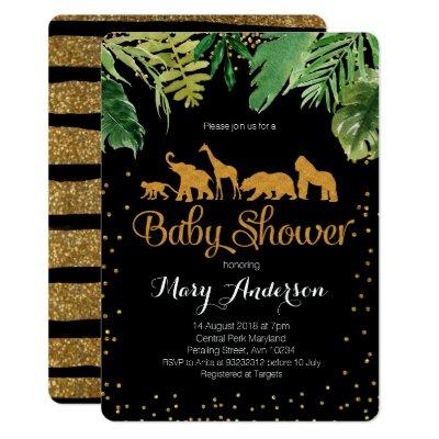 Wild Jungle Baby Shower Invitation