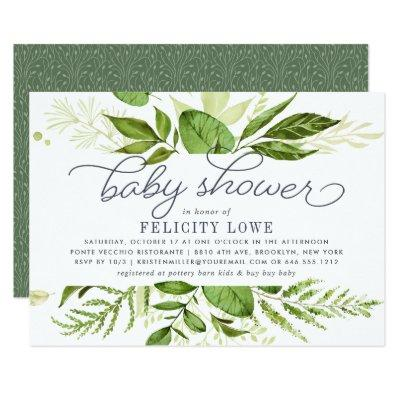 Wild Meadow Baby Shower Invitations