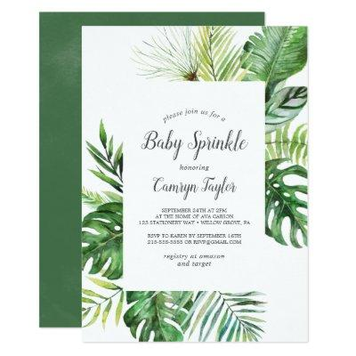 Wild Tropical Palm Baby Sprinkle Invitation