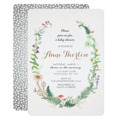 Wildflower Baby Shower Invitation