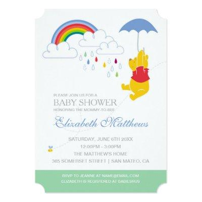 Winnie the Pooh | Boy Baby Shower Invitations