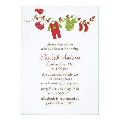 Winter Clothesline Invitations