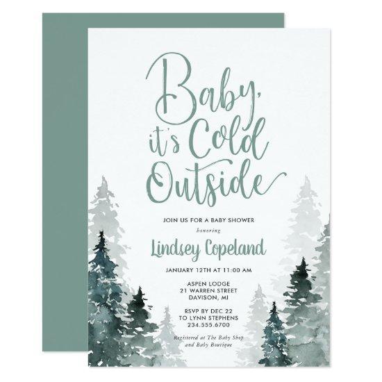 Winter Forest Baby Shower Invitation