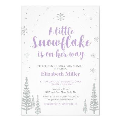 Winter Wonderland, Girl Baby Shower/Baby Sprinkle Invitation