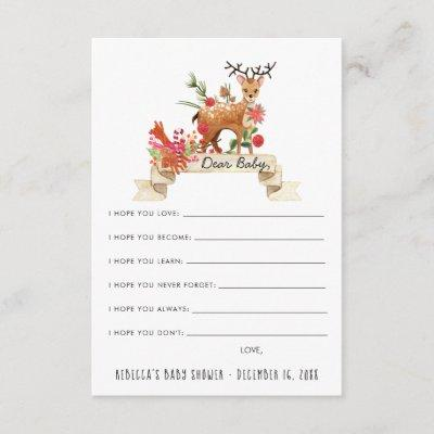 Wishes for Baby Advice Card | Reindeer