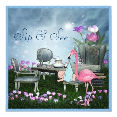 flamingo baby shower baby shower invitations | baby shower invitations, Baby shower invitations
