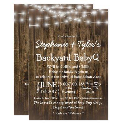 Wood BabyQ Backyard BBQ Bash Rustic