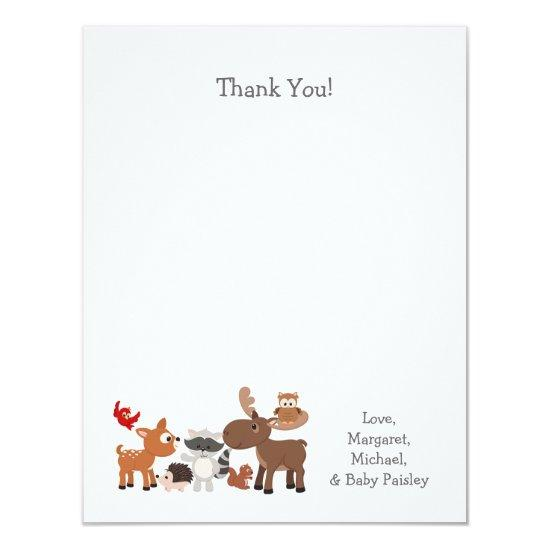 Woodland Animal Baby Shower Thank You Notes Invitations Baby