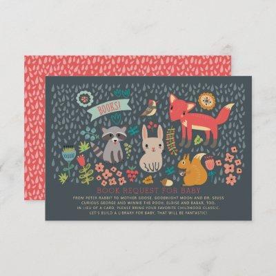 Woodland Animals Baby Shower Book Request Invitation