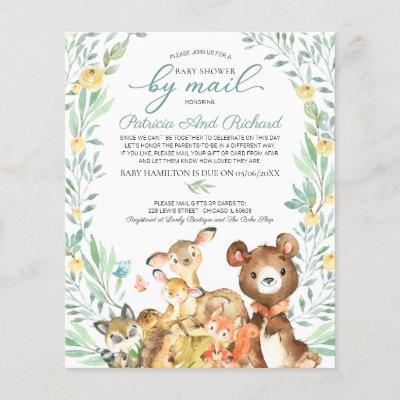Woodland Baby Shower By Mail Budget Invitation