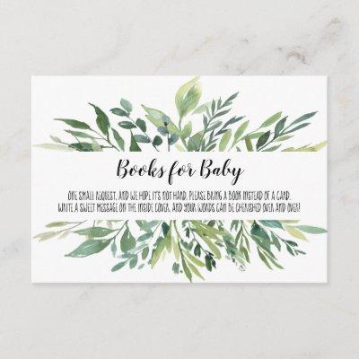 Woodland Books For Baby | Book Request | Greenery Enclosure Card
