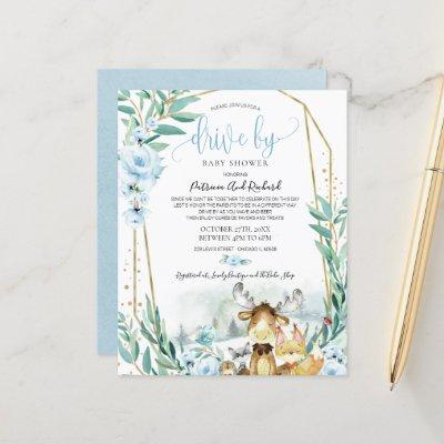 Woodland Drive By Baby Shower Budget Invitation