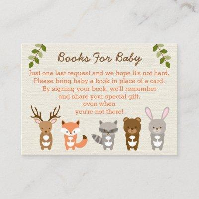Woodland Forest Animal Book Request Invitations