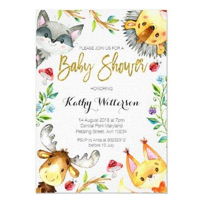 Woodland Forest Invitations