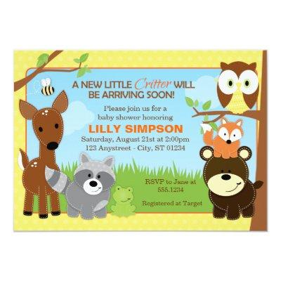 Forest Friends Baby Shower Invitations Baby Shower Invitations