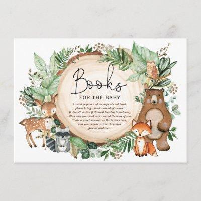 Woodland Forest Greenery Animals Books for Baby Enclosure Card