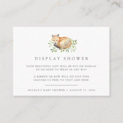 Woodland Fox Baby Shower Book Request Invitations