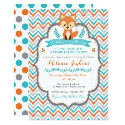 Woodland Fox Invitations