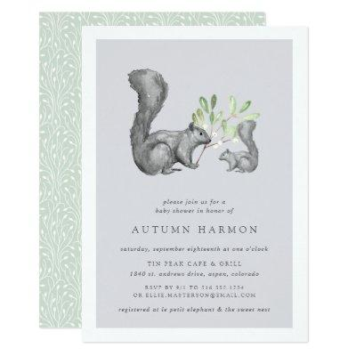 Woodland Friends Baby Shower Invitations