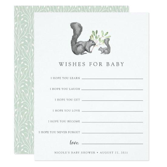 Woodland Friends Baby Shower Wishes Card Baby Shower Invitations