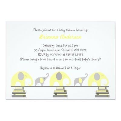 Yellow and Gray elephants on books
