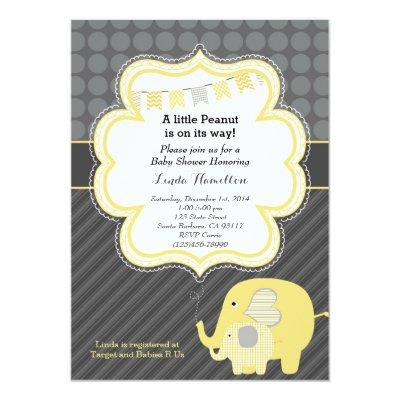 Yellow Elephant Invitations