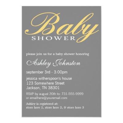 Yellow gray baby shower baby shower invitations baby shower yellow gray design baby shower invites filmwisefo Choice Image