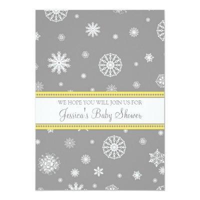 Yellow Gray Snow Christmas Custom