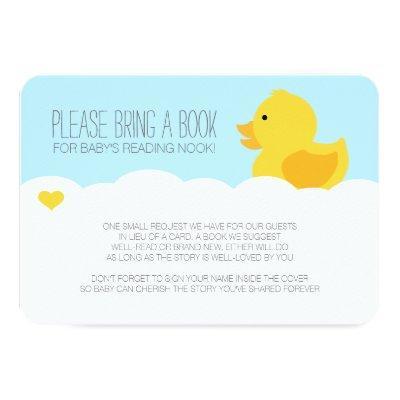 Yellow Rubber Ducky Bubble Bath Invitations