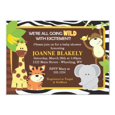 Zebra Print Jungle Safari